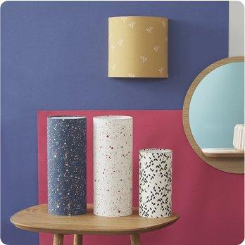 applique murale design en tissu jaune moutarde motif origami oiseau bye bye birdie. Black Bedroom Furniture Sets. Home Design Ideas