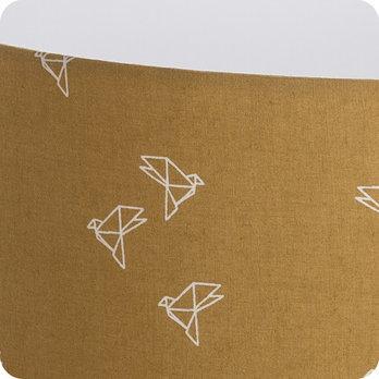 abat jour ou suspension pour chambre en tissu jaune moutarde motif origami oiseau bye bye birdie. Black Bedroom Furniture Sets. Home Design Ideas