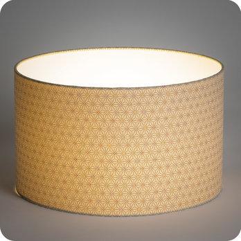 abat jour ou suspension pour chambre ou salon en tissu petit motif japonais beige mini hoshi. Black Bedroom Furniture Sets. Home Design Ideas