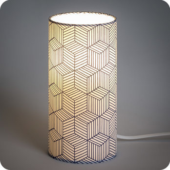 lampe poser design motif g om trique bleu cinetic indigo. Black Bedroom Furniture Sets. Home Design Ideas