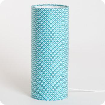 lampe de chevet en tissu motif caille japonais bleu blue aka. Black Bedroom Furniture Sets. Home Design Ideas