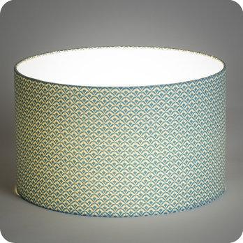 abat jour ou suspension pour chambre en tissu motif caille japonais bleu blue aka. Black Bedroom Furniture Sets. Home Design Ideas