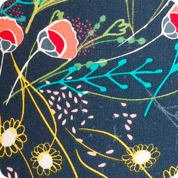 applique murale design en tissu style boho chic nature motif floral bleu nuit marine symphonie. Black Bedroom Furniture Sets. Home Design Ideas