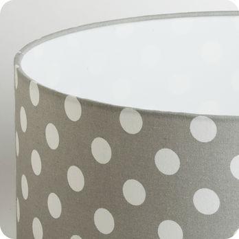 abat jour design pour lampe lampadaire ou suspension en tissu motif pois vintage gris min rale. Black Bedroom Furniture Sets. Home Design Ideas