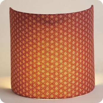 applique murale design en tissu motif japonais rouge. Black Bedroom Furniture Sets. Home Design Ideas