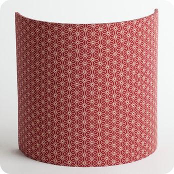 applique murale design en tissu motif japonais rouge brique ume. Black Bedroom Furniture Sets. Home Design Ideas