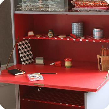 Meubles vintage bureaux tables grand secr taire ann es 70 fabuleuse factory - Bureau secretaire enfant ...
