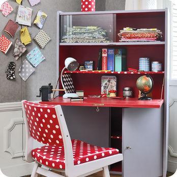 meubles vintage bureaux tables grand secr taire ann es 70 fabuleuse factory. Black Bedroom Furniture Sets. Home Design Ideas
