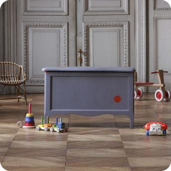 meubles vintage rangements coffre jouets gris. Black Bedroom Furniture Sets. Home Design Ideas