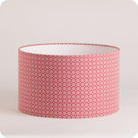 Abat-jour / suspension cylindrique tissu Red daisy
