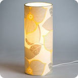 Lampe tube à poser tissu Bloom