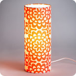 Lampe tube à poser tissu Flower power