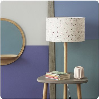Lampe Table De Chevet En Bois Naturel Et Medium Gris Beton Avec Abat