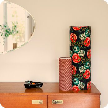 lampe poser design lampe de chevet tube tissu. Black Bedroom Furniture Sets. Home Design Ideas