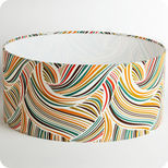 Abat-jour / suspension cylindrique tissu Psychedelic