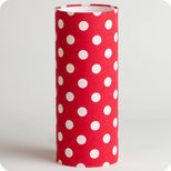Lampe tube à poser tissu Red dingue