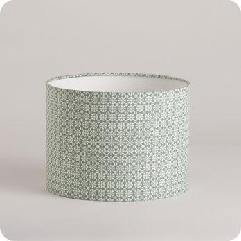 abat jour design pour lampe lampadaire ou suspension en tissu motif graphique vert daisy. Black Bedroom Furniture Sets. Home Design Ideas