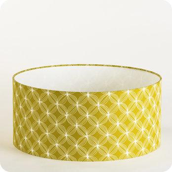abat jour design pour lampe lampadaire ou suspension en tissu motif vintage jaune vert curry. Black Bedroom Furniture Sets. Home Design Ideas