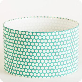 abat jour design pour lampe lampadaire ou suspension en tissu motif scandinave bleu glacier. Black Bedroom Furniture Sets. Home Design Ideas