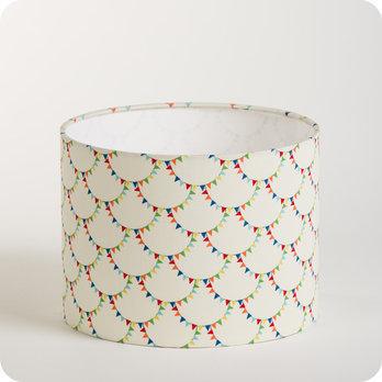 Abat jour ou suspension pour chambre enfant en tissu motif vintage flonflon - Tissu pour abat jour ...