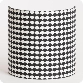 applique murale en tissu motif japonais noir et blanc shirokuro. Black Bedroom Furniture Sets. Home Design Ideas
