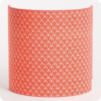 applique murale int rieure en tissu motif japonais rouge koraru. Black Bedroom Furniture Sets. Home Design Ideas