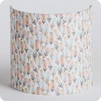 Applique murale design en tissu motif plume pastel envol - Applique murale tissu blanc ...
