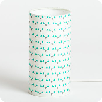lampe de chevet enfant en tissu motif scandinave turquoise mistinguett. Black Bedroom Furniture Sets. Home Design Ideas
