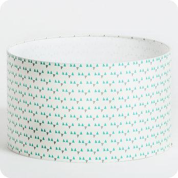 abat jour ou suspension pour chambre enfant en tissu motif scandinave turquoise mistinguett. Black Bedroom Furniture Sets. Home Design Ideas
