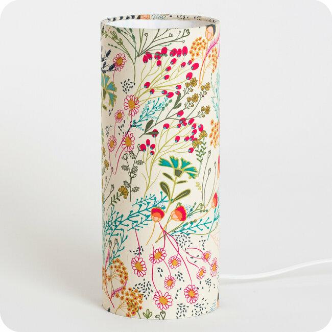 Nature Motif Chic Tube Lampe En Floral Poser Tissu À Style Boho trdshQCx