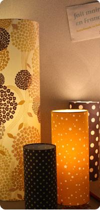lampes tissu Fabuleuse Factory sept 2012