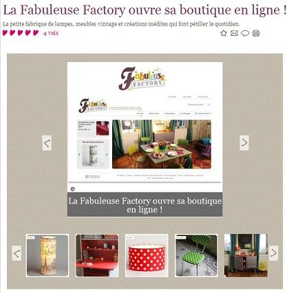 Fabuleuse Factory sur le site Marie Claire idées