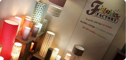 Nouveautés lampes Fabuleuse Factory